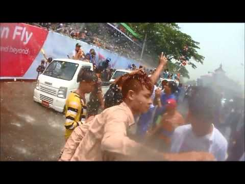 Thingyan Water Festival 2014 | Partying on the Streets of Yangon