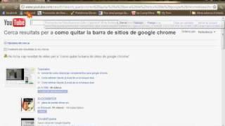 Como Quitar La Barra De Webs De Google Chrome!! :D