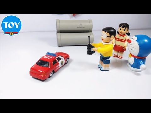 Doremon hài tập 1 - xe điều khiển của Xuka Nobita hậu đậu - đồ chơi trẻ em stop motion doraemon chế