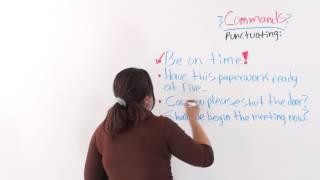 Giving Commands, English Sentences