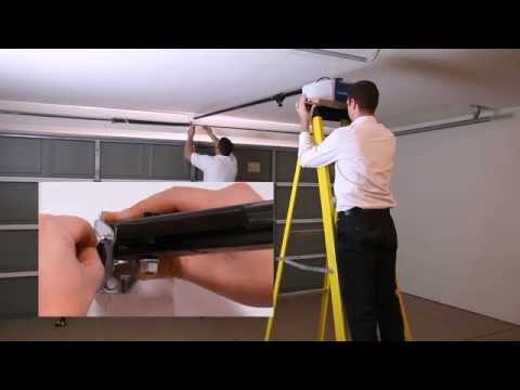 how to install a new garage door video 2