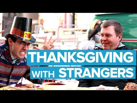 Thanksgiving in Times Square (with strangers)