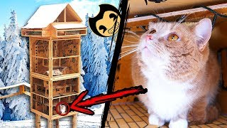 How to Make Huge Tower Labyrinth for Cats in Bendy and the Ink Machine Style