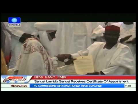 New Kano Emir: Sanusi Lamido Sanusi Receives Certificate Of Appointment