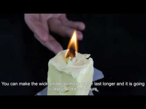 How To Make a Butter Candle? (Russian)