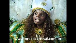 Luana Passista Cubango First Timer Samba Dancer on Official Brazil Carnival 2012 view on youtube.com tube online.