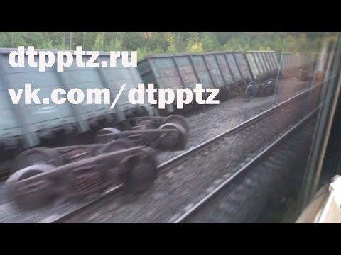 В Лоухском районе на железной дороге произошел сход вагонов грузового поезда