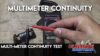 Continuity test using a multi meter
