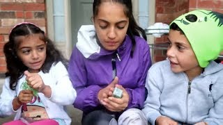 Kids search for bugs beside the house! family fun video for children