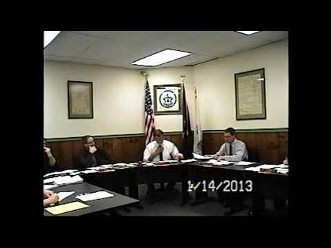 Champlain Village Board Meeting 1-14-13