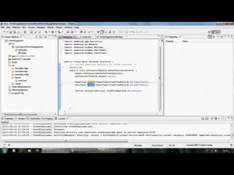 Android programming activity textview editview and first application 2