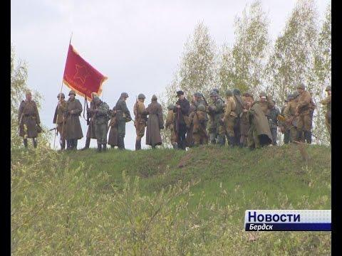 Грохот снарядов и свист пуль. В честь Дня Победы бердчанам показали реконструкцию военных действий