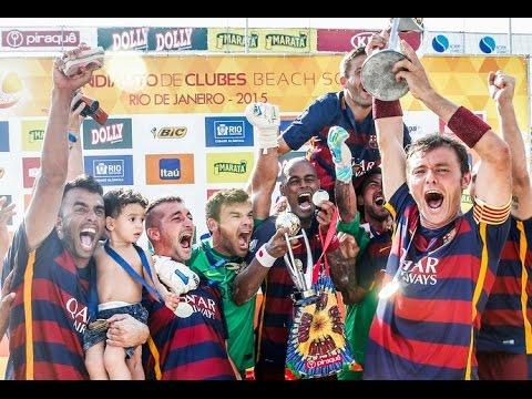 Time da Colina faz 4 a 1, mas não contém a reação do Barça e precisa se contentar com vice-campeonato do Mundialito de Clubes, na Barra da Tijuca, no Rio de Janeiro