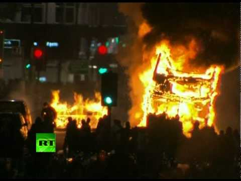 London on Fire: Video of anti-police riots, bus blaze in Tottenham