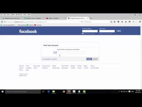 How to login facebook if you forgot your password