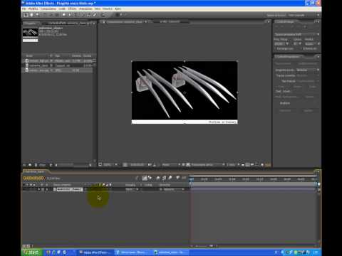"After Effetcs Tutorial:  ""wolverine claw"" di X-Man...  parte 1"