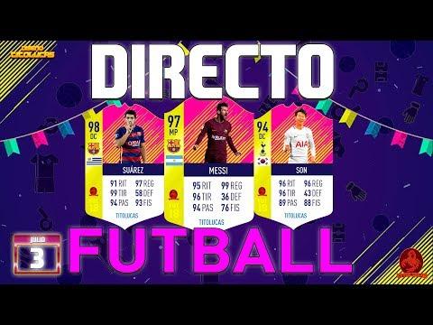 FIFA 18    DIRECTO PACK OPENING 90 SOBRES BUSCANDO CARTAS FUTBALL    TITOLUCAS