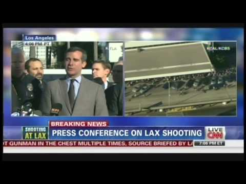 LAX Shooting Press Conference, 1 TSA officer killed, 3 others injured (November 1, 2013)