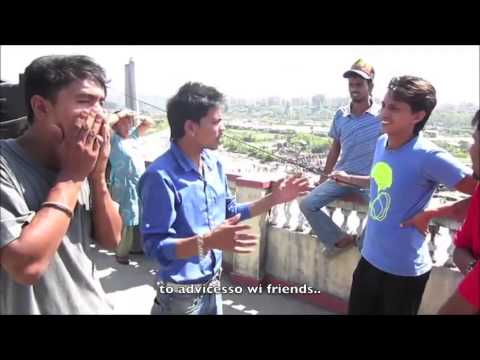 Nepali interview plane crash with subtitle
