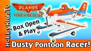 NEW Disney Planes Pontoon Racing DUSTY! Play With HobbyKid