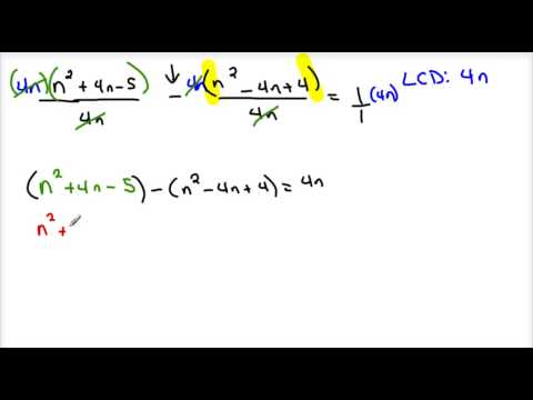 Solving Rational Equations1