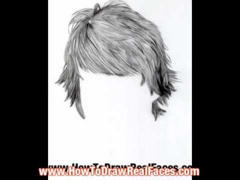Learn to draw hair realistic with pencil