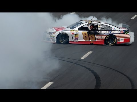 Earnhardt Jr. steals the show, wins at Pocono