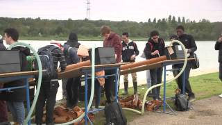 Fieldwork: Building a water slide in a country park