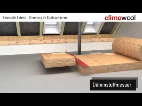 Climowool - izolacja wewnątrz w dwuspadowym dachu