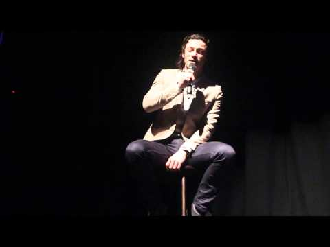 Luke Evans singing at the Lyric Theatre, Belfast 22/09/2013