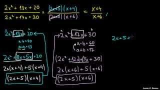 Poenostavljanje racionalnih izrazov 2