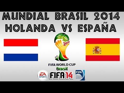 FIFA 14 - MUNDIAL BRASIL 2014 - HOLANDA vs ESPAÑA - XBOX ONE - GAMEPLAY - HD