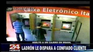 Asesinato Y Robo En Cajero Electronico En Brasil