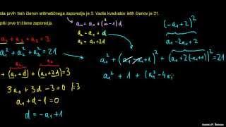 Aritmetično zaporedje – naloga 4
