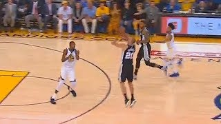 Manu Ginobili Looking Like Stephen Curry at 40 Years Old with the Buzzer Beater! Warriors vs Spurs