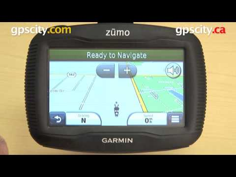 Garmin Zumo 350LM: View Map Screen with gpscity.com
