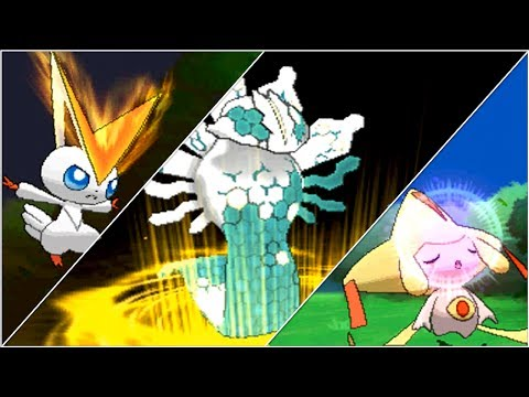 Pokemon X and Y: All Shiny-Locked Legendary Pokemon w/ Signature Moves!