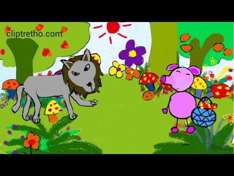 Hoạt hình vui nhộn lợn con dũng cảm, chú heo con, chuyện cổ tích cho trẻ em