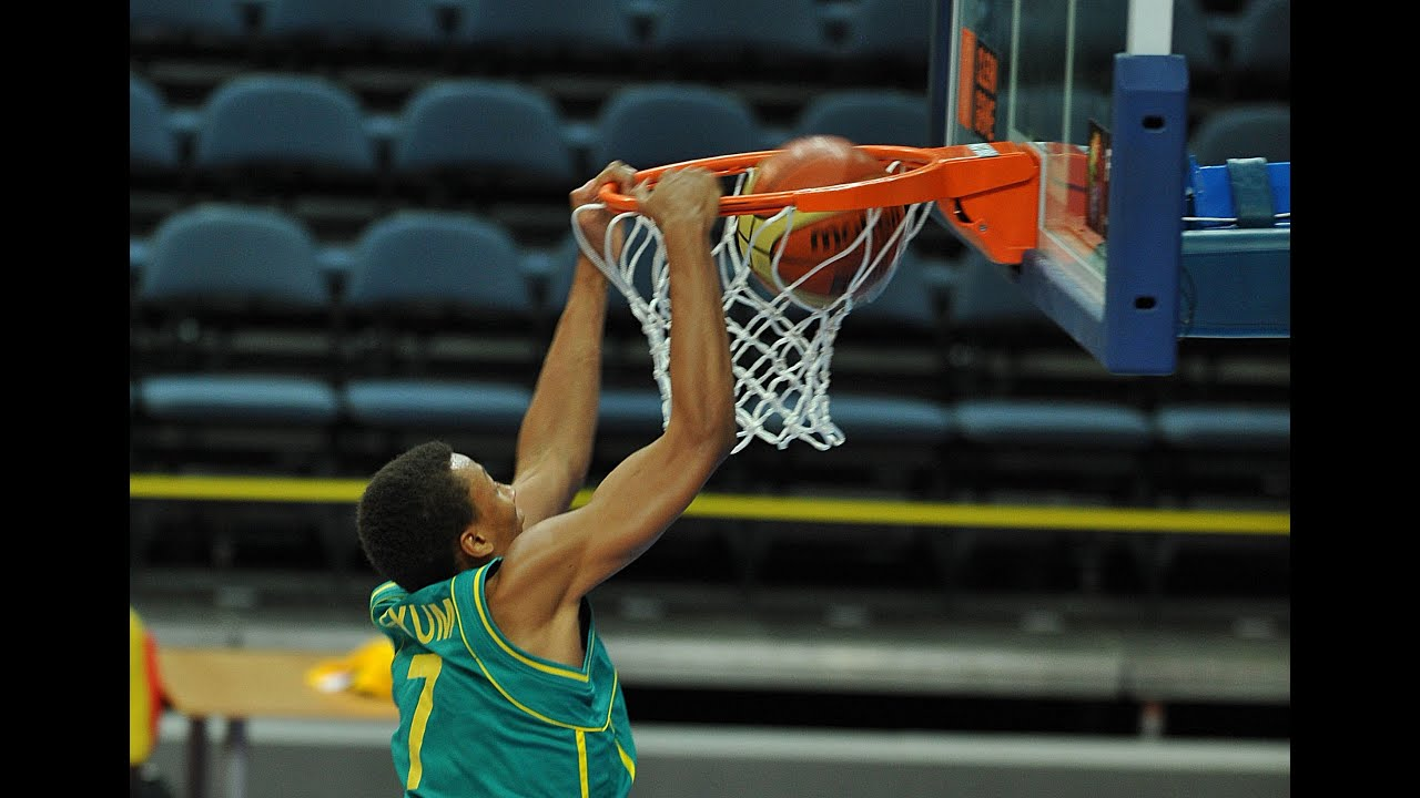 fibau19 baseline dunk by dante exum youtube