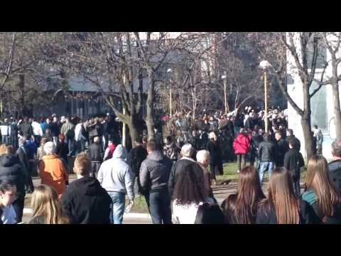 Anti government protests in Tuzla 07.02.2014