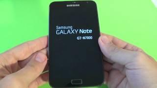 Samsung Galaxy Note N7000 fabrika ayarlarına döndürme