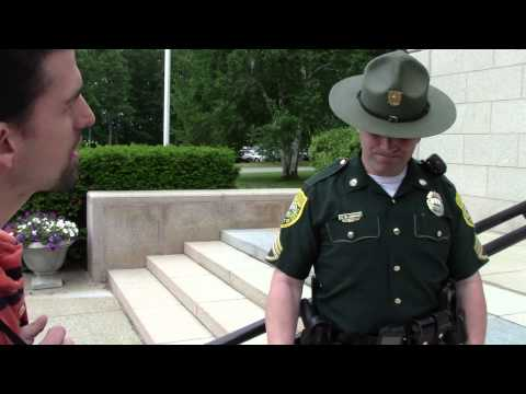 Ian Freeman Threatened with Arrest for Chalking | NH Supreme Court Hears Rich Paul Appeal Pt 2