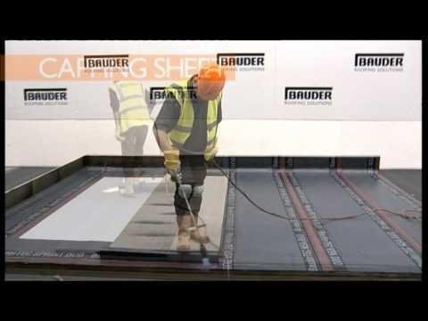 Bauder - asfalt modyfikowany, montaż membrany dachowej