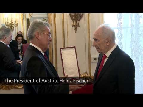 President Shimon Peres' state visit to Austria ביקור נשיא המדינה שמעון פרס באוסטריה
