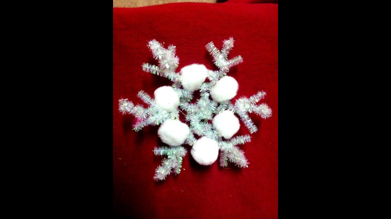 How To Make Snowflake Ornaments Christmas Craft Easy