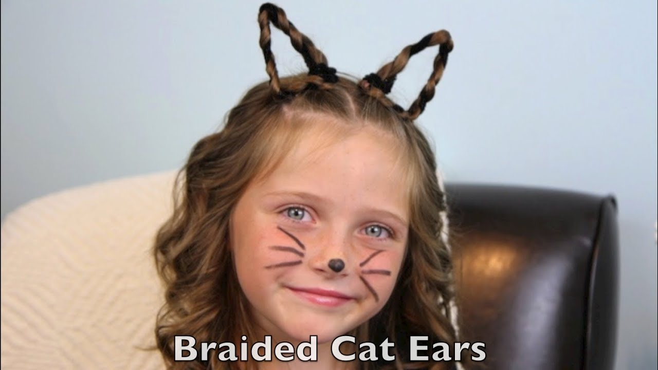 Braided Cat Ears Halloween Hairstyles