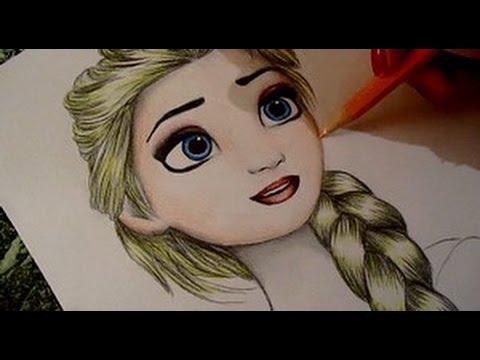 Frozen Drawing Elsa - YouTube