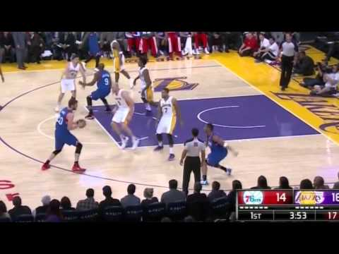 Evan Turner Reverse Dunk, Nick Young Incredible Reverse: Sixers At Lakers