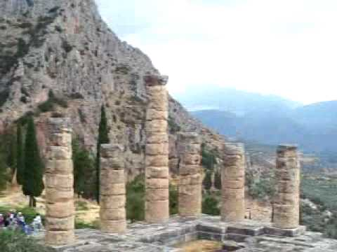 Ancient ruins of Delphi, Greece