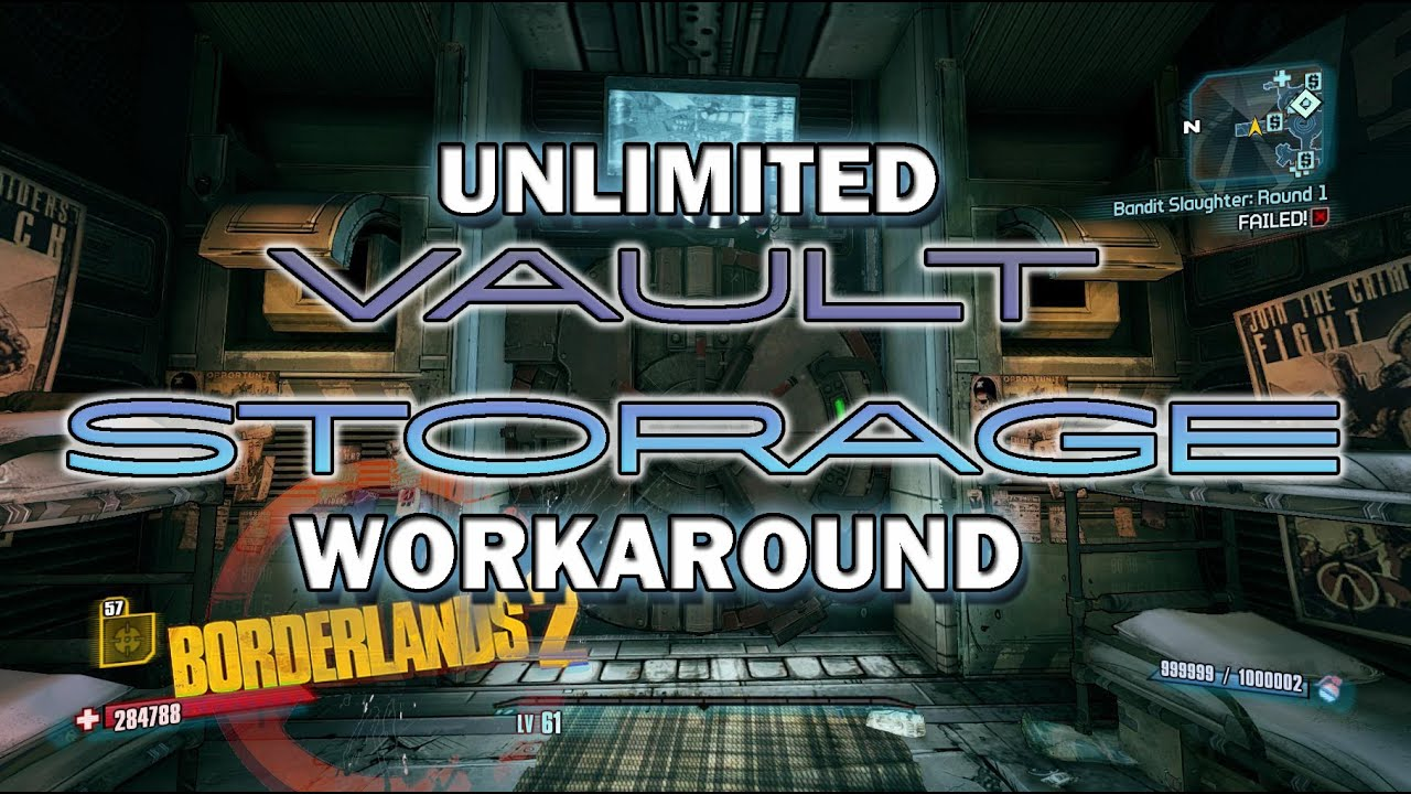 Borderlands 2 - Unlimited Vault Storage【v2】 - YouTube Borderlands 2 Gibbed Codes Imgur